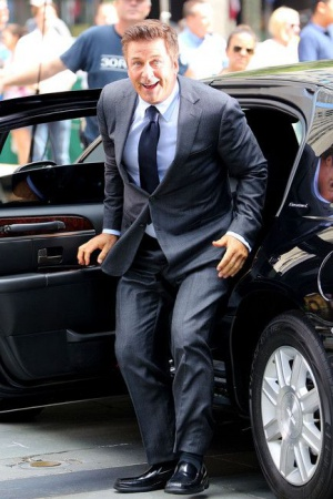 Алек Болдуин на съемках телесериала 30 Rock