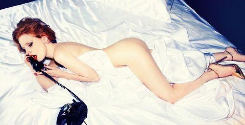 Джессика Честейн оголилась для престижного глянца (фото)
