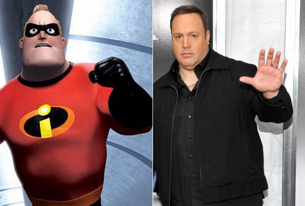 Mr. Incredible и Кевин Джеймс