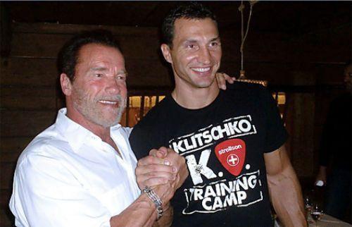 Шварценеггер встретился с Кличко в Австрии