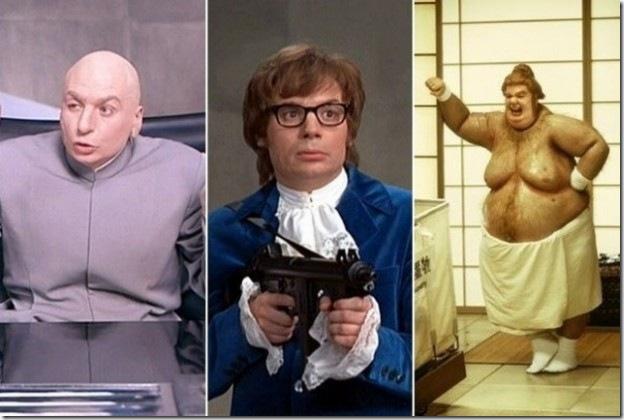 Майк Майерс (Mike Myers) играл целых три роли в