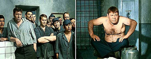 Вся блатная речь в картине появилась благодаря Александру Серому — пригодился его тюремный опыт. Плакаты, висевшие в камере:
