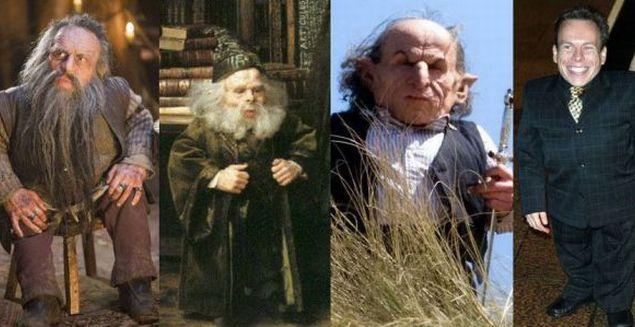 """Nikabrik (""""Хроники Нарнии: Принц Каспиан"""" 2008), профессор Флитвик и несколько гоблинов в Поттериане - Уорвик Дэвис (Warwick Davis)"""