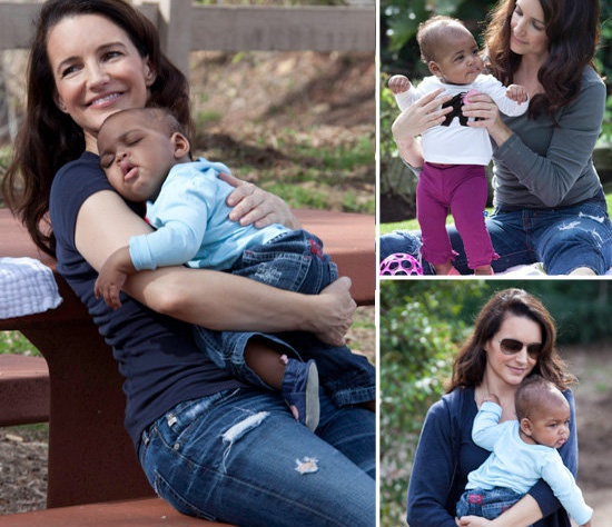 Кристин Дэвис усыновила чернокожего ребенка
