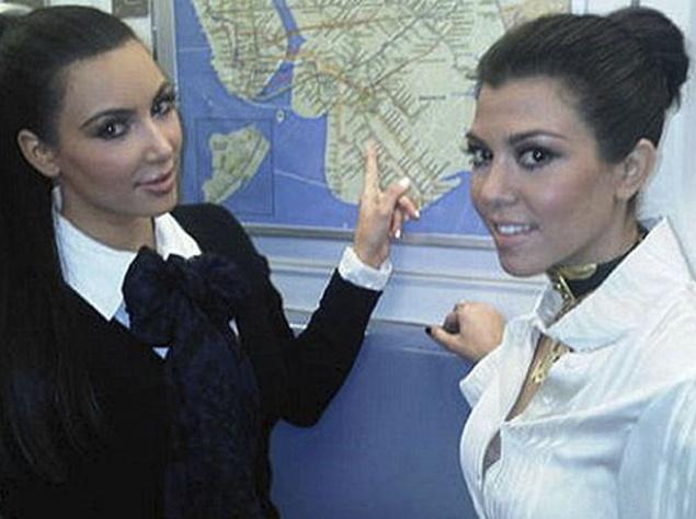 Сёстры Кардашьян в метро