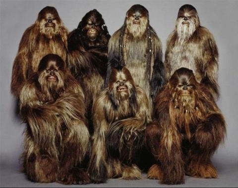 """Костюмы вуки из """"Звездных войн"""" были сделаны из человеческих волос."""