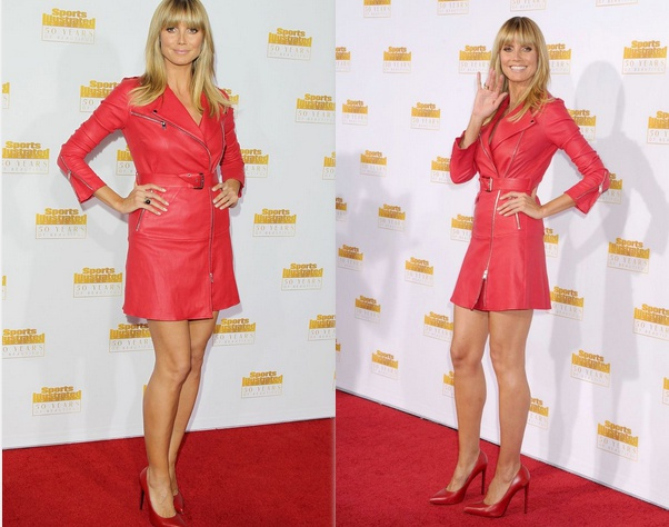 Хайди Клум появилась в ультракоротком платье