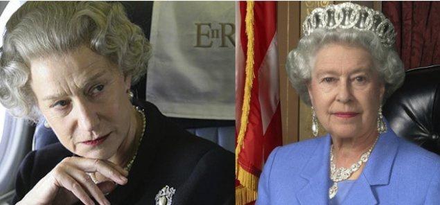 """Хелен Мирен и Елизавета II. """"Королева""""."""