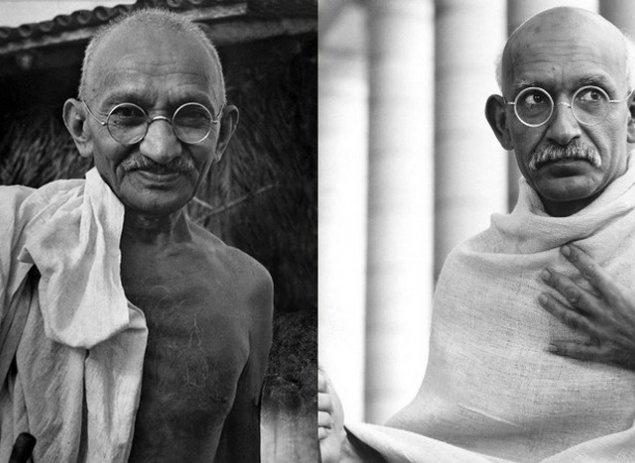 "Махатма Ганди и Бен Кингсли. ""Ганди""."