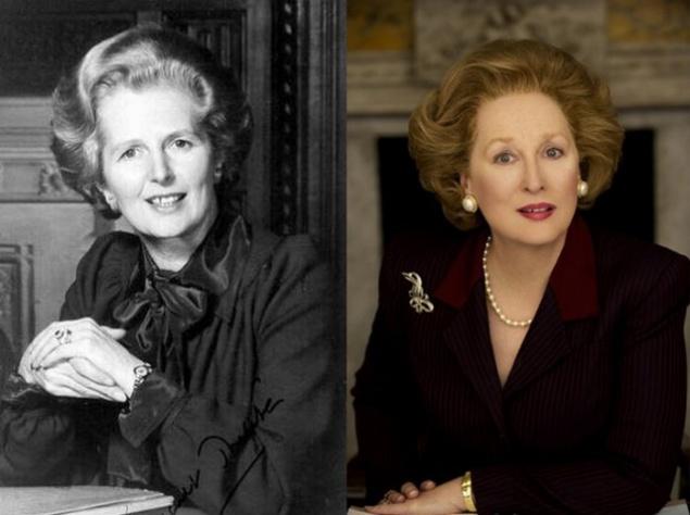 """Маргарет Тэтчер и Мерил Стрип. """"Железная леди""""."""