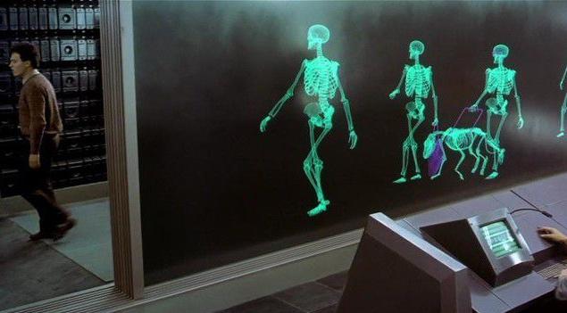 """В 1989—1990-м годах технологий для создания таких эффектов не было. Кажется, будто в создании """"рентгеновской"""" анимации нет ничего сложного, но это не так. Специалистам надо было особым образом рассчитать прозрачность и наложение всех костей скелетов, чтобы на пленке они выглядели объемными."""