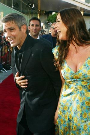 Джордж Клуни с Лизой Сноудон