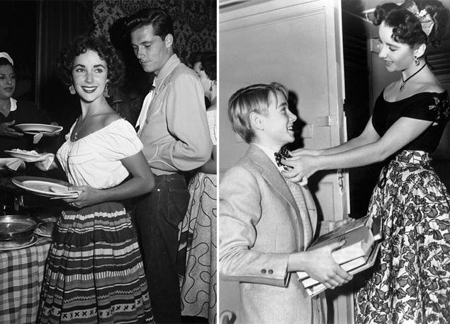 Первым избранником 18-летней старлетки стал бизнесмен Конрад Николсон Хилтон-младший (Conrad Nicholson Hilton, Jr.), сын основателя одноименной сети американских отелей. 23-летний Ники (между прочим, двоюродный дед нынешних светских львиц Ники и Пэрис Хилтон) познакомился с актрисой в одном из ночных клубов Лос-Анджелеса и спустя четыре месяца сделал ей предложение. 6 мая 1950 года сыграли пышную свадьбу, а 1 февраля 1951 года супруги расстались.