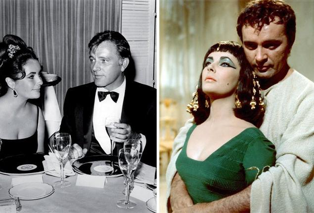 """Спустя неделю после развода с Фишером, 15 марта 1964 года, Лиз Тейлор в пятый раз пошла к алтарю. Исполнитель роли Марка Антония в """"Клеопатре"""", английский актер Ричард Бёртон (Richard Burton) приехал в Голливуд на съемки в сопровождении жены и двух дочерей, но попал под чары первой красавицы и сдался. Когда судья объявил их мужем и женой, они слились в таком страстном поцелуе, что он, по словам свидетелей, чуть было не перешел в первую брачную ночь. Начатый еще в предыдущем браке процесс завершился в 1964 году удочерением трехгодовалой девочки Марии. Первый брак Элизабет и Ричарда продлился почти десять лет и был расторгнут 26 июня 1974 года. Однако 10 октября 1975 года пара снова воссоединилась, чтобы через девять месяцев (29 июля 1976 года) расстаться уже навсегда. Позже Лиз призналась, что Тодд был ее любимым мужем, а Бёртон — любимым мужчиной."""
