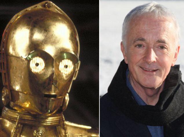 """Имя Энтони Дэниэлс (68). Персонаж C-3PO — андроид, способный найти общий язык с кем угодно и при любых обстоятельствах. До """"Звездных войн"""" Выпускник одной из драматических школ Лондона и диктор на BBC. Как Джорджу Лукасу удалось заполучить в проект этого молодого человека (и, более того, заставить сыграть робота!) — до сих пор остается загадкой: Дэниэлс ненавидел фантастическое кино. Сегодня Появляющийся во всех фильмах звездной франшизы Дэниэлс — полноценный телевизионный актер, снимавшийся, в частности, в криминальном сериале """"Главный подозреваемый"""" с Хелен Миррен. В свободное от съемок время читает лекции о технологиях в области развлекательной индустрии студентам Университета Карнеги."""