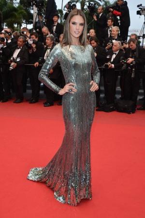 Алессандра Амбросио в платье от Roberto Cavalli, 2013 год