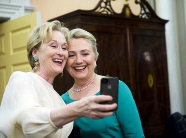 Мерил Стрип и Хиллари Клинтон