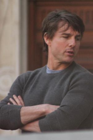 Том Круз на съемочной площадке фильма