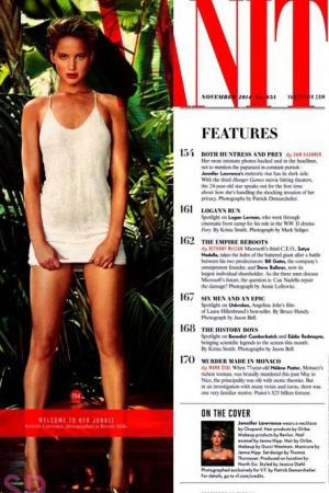 Дженнифер Лоуренс снялась для журнала