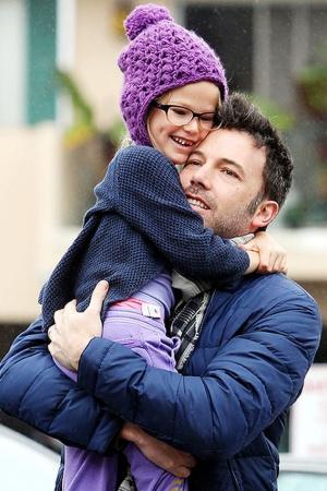 Бен Аффлек с младшей дочкой Серафиной