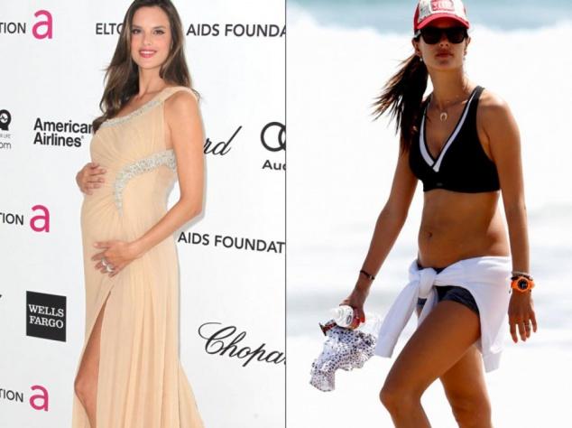 Известные красотки до и после рождения ребенка