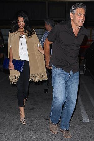 Первый совместный выход Джорджа и Амаль Клуни после замужества
