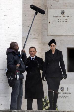 СПЕКТР 007: Дэниэл Крэйг и Моника Беллуччи на съемках фильма