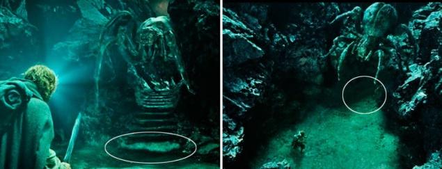 """В части """"Властелин колец: Возвращение короля"""" неожиданно пропадает лестница вместе с обмотанным паутиной Фродо"""