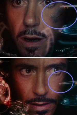 """""""Мстители"""". По-видимому, костюм Железного человека способен за мгновение залечивать раны"""