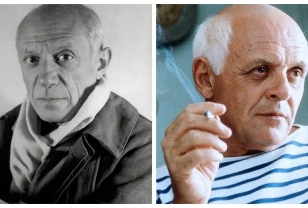 Пабло Пикассо и Энтони Хопкинс,