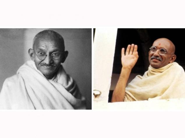 Махатма Ганди и Бен Кингсли,