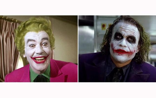 Бэтмен.  Джокер. 1966 и 2008