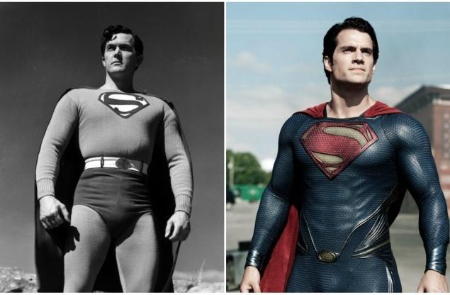 Супермен.  Кларк Кент. 1978 и 2013