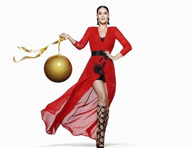 Кэти Перри снялась в рождественской фотосессии