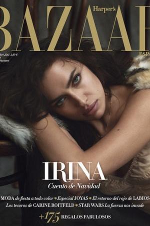 Ирина Шейк украсила сразу две обложки Harper's Bazaar