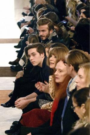 Дэвид Бекхэм с детьми посетили показ супруги в Нью-Йорке