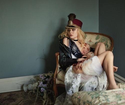 Эль Фаннинг снялась для Vogue