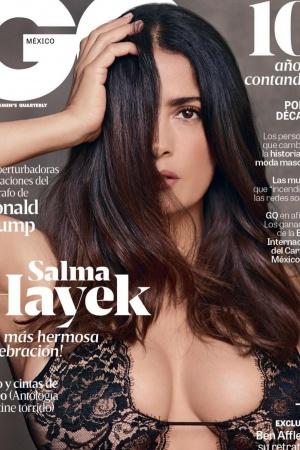 Соблазнительная Сальма Хайек снялась для мужского глянца