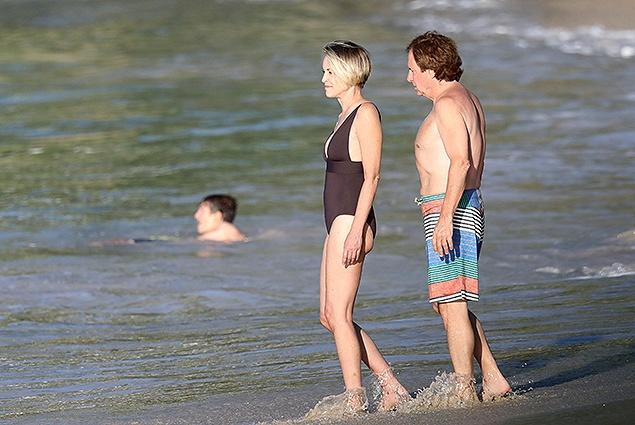 Шэрон Стоун отдыхает с новым бойфрендом на острове Сен-Барт