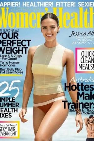 Джессика Альба в модном купальнике снялась для глянца