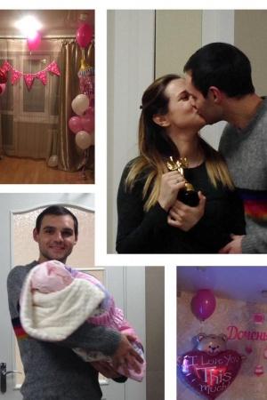 Галина Безрук показала, как муж встречал ее из роддома