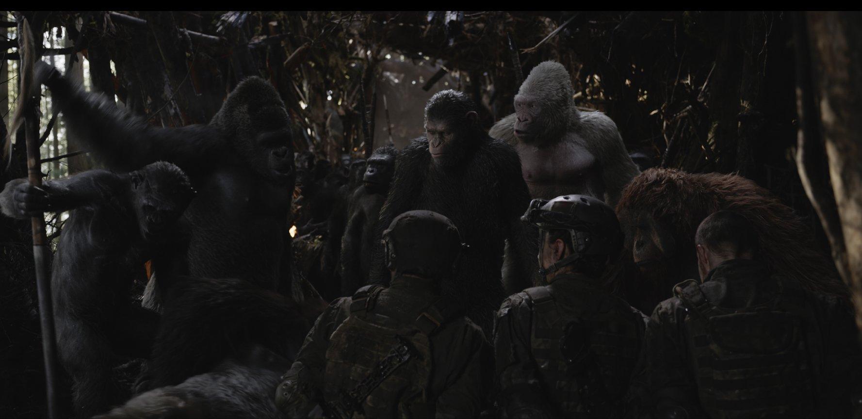 Планета обезьян Война фильм смотреть онлайн бесплатно