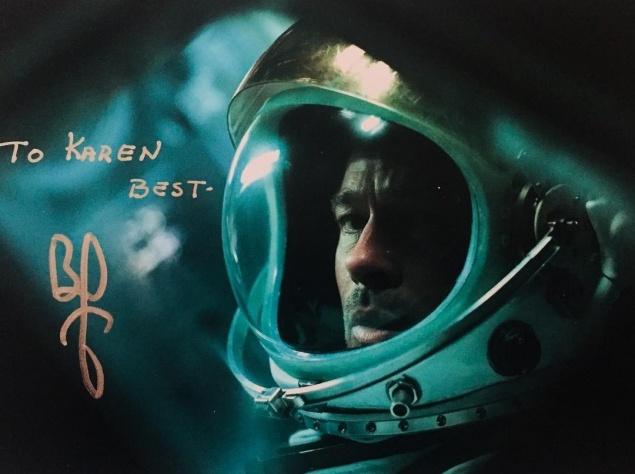 Брэд Питт на первом кадре фильма