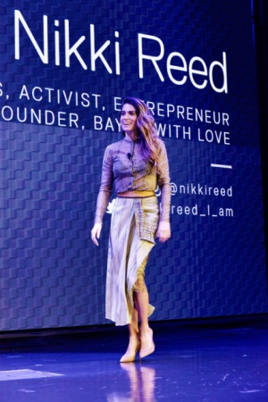 Иен Сомерхолдер поддержал Никки Рид на презентации ее коллекции украшений