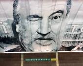 В киевском метро появился мурал с Богданом Ступкой