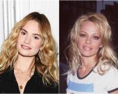 Лили Джеймс в образе Памелы Андерсон не отличить от оригинала