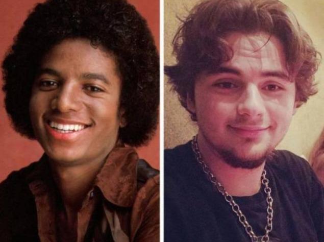 Майкл Джексон и его сын Майкл Джозеф Джексон младший в 21 год